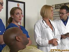 Cfnm nurses cocksuck black dick in hospital movies