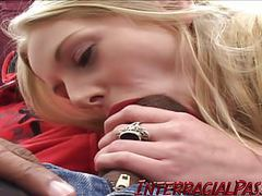 Blonde tourist gets fucked by a massive black cock! movies at sgirls.net