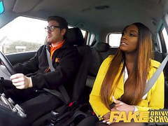 Fake driving school hot ebony jai james with huge tits tubes