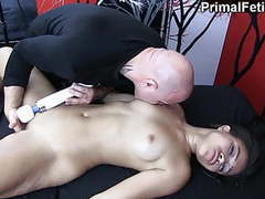 Black babe made to cum again and again by white masseur movies at kilogirls.com