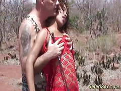 African safari threesome orgy movies at kilomatures.com