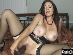 Horny big tit milf charlee chase stuffs pussy with big black videos