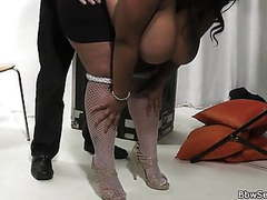 Husband cheating with huge titted ebony fatty movies at sgirls.net