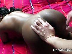 Skinny white man drills thick black gal movies at kilogirls.com