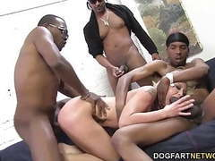 Leya falcon gets gangbanged by big black cocks tubes