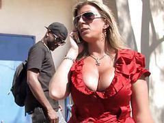Big titted cougar sara jay fucks black dick movies at freekiloporn.com
