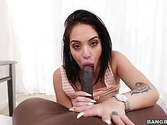 Aria rose gets monster black cock pov style movies