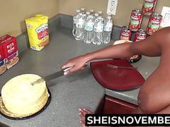 Step brother talks young ebony step sister into kitchen sex movies at adipics.com
