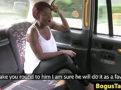 Talented taxi ebony gets a mouthful of cum movies at freekiloporn.com