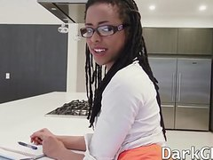 Amazing ebony kira noir swallows a load of warm cum movies at dailyadult.info