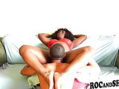Hot ebony couple fucks at home !! movies at reflexxx.net