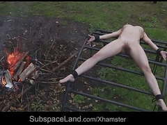 Skinny helpless slave expoited outside by her master videos