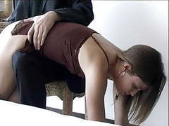 Hard spanking with hand and hairbrush movies at freekilosex.com