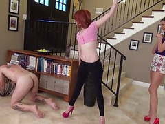 Two young mistresses breaking slave by whipping movies at kilopills.com