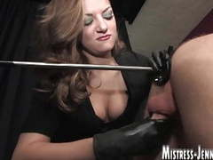 Locked in stock for strap-on and milking like a cow by domme videos