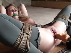 Ally stripped bound ballgagged whipped vibed machine-fucked movies at find-best-tits.com