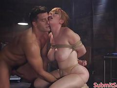 Bdsm sub tit fucks doms cock before anal sex movies at kilovideos.com