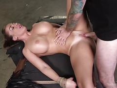 Athletic milf richelle ryan gets punished and fucked in rope videos