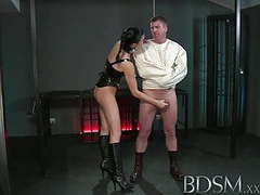 Bdsm xxx slave boy in straight jacket and anal hook swings movies at find-best-videos.com