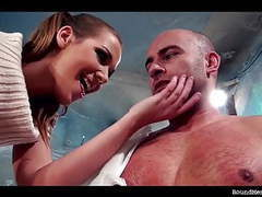 Anouk in total control humiliates and wanks muscular guy videos