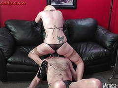 Strap on and cock torture after long pussy worship movies at find-best-hardcore.com
