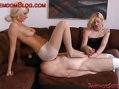 Two blonde femdom slave humble strap-on face sitting movies at find-best-hardcore.com