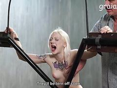 Blonde cries from pussy whipping movies