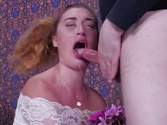 Flower girl gets brutally face fucked and fed man ass movies