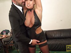 British skank sasha steele throated and fucked hard in ass videos