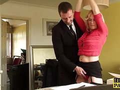 Bdsm milf brit instructed to ride by maledom movies at sgirls.net