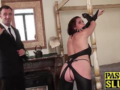 Submissive lizzy lovers gets dominated and fucked by pascal tubes