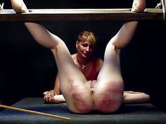 Merciless caning for blonde and her girlfriend videos