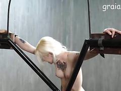 Nice tattooed girl caned videos