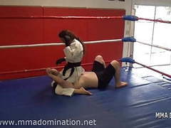 Mixed fight- headscissor beatdowns trampling humillation movies at kilovideos.com