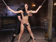 Tiny gina valentina submits to rope bondage movies at find-best-videos.com