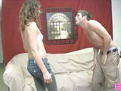 Humiliating break up ballbusting leggings videos
