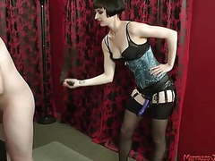 Femdom mix of strapon facesitting whipping humiliation movies at freekilomovies.com