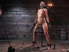 Sub lilith luxe has her head shaved and body punished videos