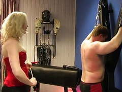 Caning punishment by blonde mistress movies at freekilomovies.com