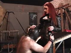 Strap-on domination - mistress rebekka raynor fucks slave videos