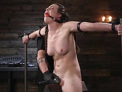 Porn goddess casey calvert ass fucked and tormented in metal movies