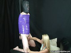 Girl has no mercy on cock during femdom handjob movies at kilopills.com