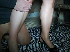 Femdom slave for mom nylon feet movies at freekilosex.com