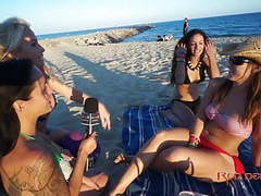 Interview on the beach tubes