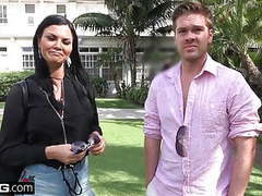 Jasmine jae brings her young boy toy along for a pov fucking movies at find-best-hardcore.com