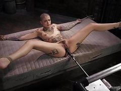 Leigh raven is tattooed tied up and machine fucked movies at find-best-panties.com