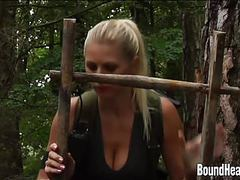 Two young girls with a slave huntress in new home movies at sgirls.net