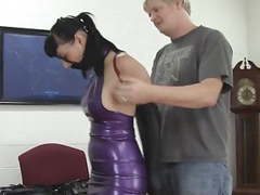 Secretary trained in latex and leather videos