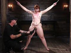 Pain slut in extreme bondage tubes