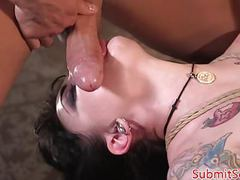 Inked bdsm subs pussy and anal fucking trio movies at find-best-hardcore.com